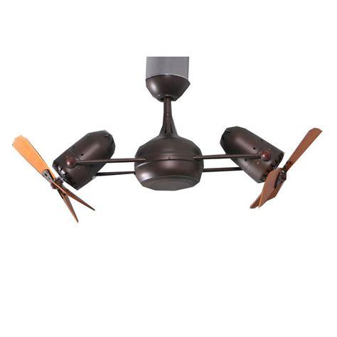 double headed ceiling fan gale series 14 in textured bronze indoor double headed