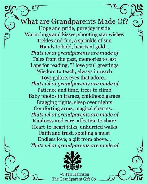 day poem in what grandparents are made of s day baby shower