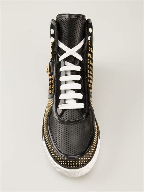 versace studded high top sneakers versace studded hi top sneakers shoes post