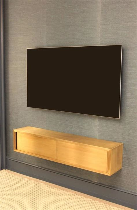 Wall Mounted Media Console in Patinated Bronze with