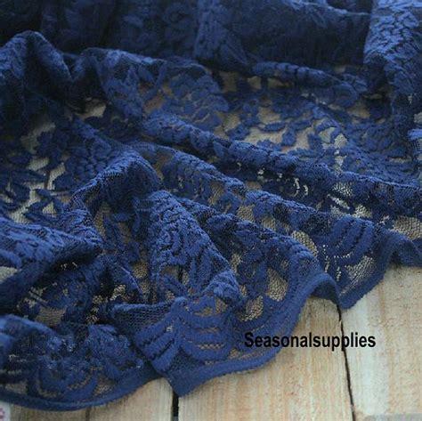 navy blue lace fabric dark blue floral lace gauze lace