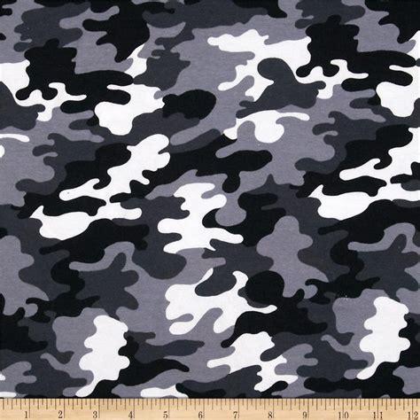 Knit Home Decor by Kaufman Laguna Stretch Jersey Knit Camouflage Black