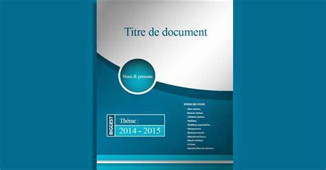 Page De Garde Modèle telecharger page de garde doc pour un rapport de stage