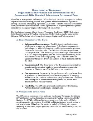 interagency agreement template government wide standard interagency agreement form fill