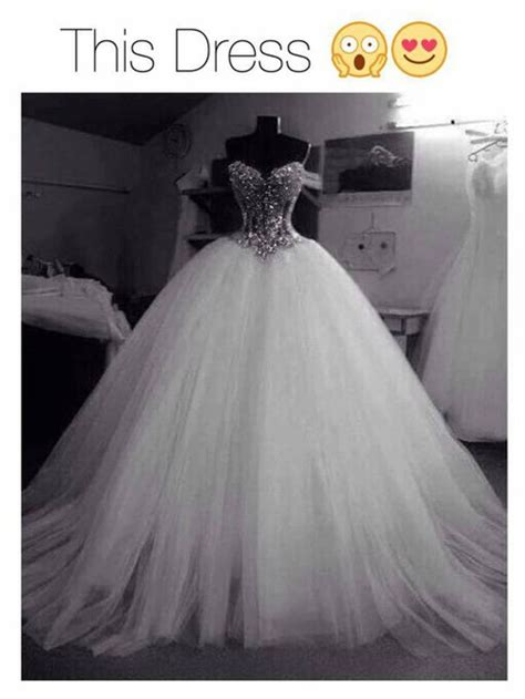 Dress: wedding dress, white, bling, beautiful, gown, love