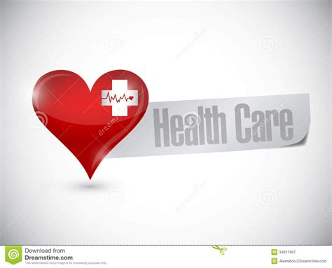 design for health health care heart and lifeline illustration design stock