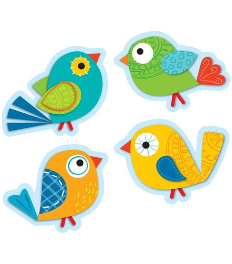 Cut Out boho birds cut outs