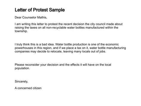 Excuse Letter Due To Bad Weather Letter Of Protest