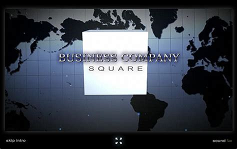 Business Squareflash Intro Template At Www Flashtemplatestore Com Custom Intro Templates