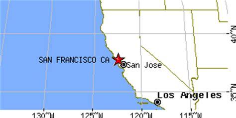 san francisco latitude map san francisco california ca population data races