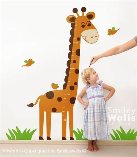 16 Best Images About Giraffe Growth Chart For Nursery On Giraffe Wall Decals For Nursery
