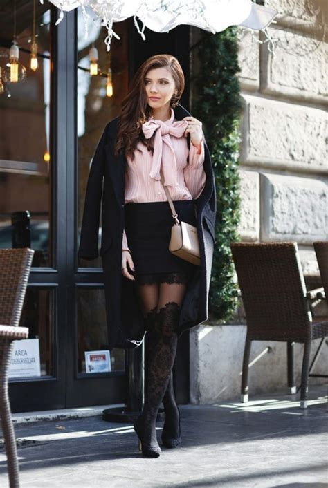 pink patterned mini skirt 17 ways how to wear patterned tights and look fabulous