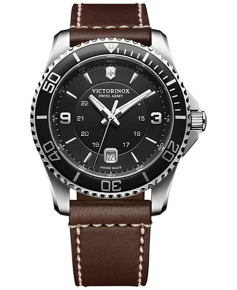 Swiss Army Dhc5020 Black Brown Leather Original 1 swiss army watches shop for and buy swiss army watches