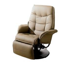 coaster swivel recliner in beige leatherette furnitures sale