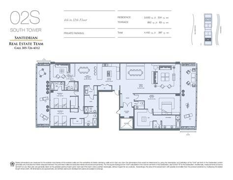 Brickell Place Floor Plans by Oceana Floor Plans Oceana Key Biscayne