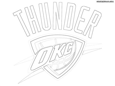 oklahoma thunder logo coloring page coloring pages