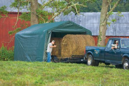 peak roof style equine storage farm shelter north