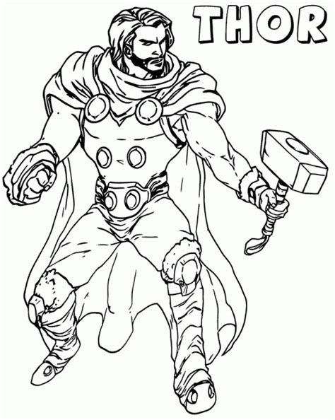 marvel coloring pages thor marvel coloring pages coloring pages