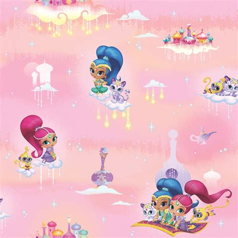 Bath Wall Stickers shimmer and shine wallpaper pink wallpaper b amp m