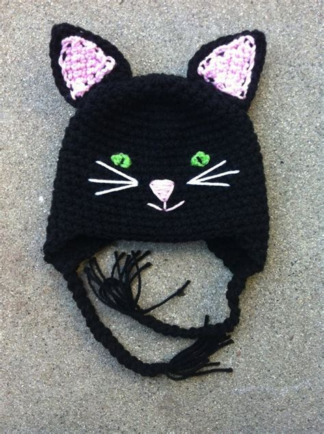 black cat slouch hat free crochet cat hat pattern pin by april olivares on make time to crochet pinterest