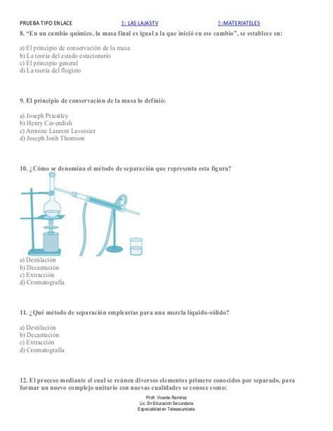 preguntas abiertas de quimica para secundaria evaluaci 243 n qu 237 mica tercer grado