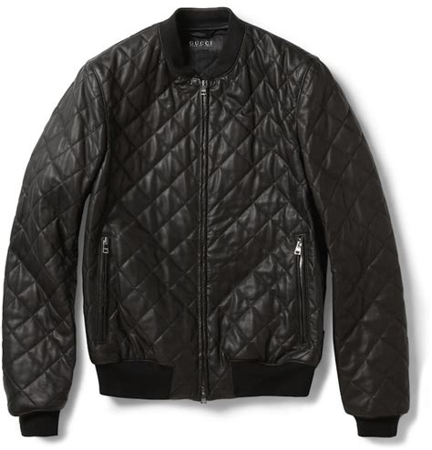Quilted Leather Jackets by Gucci Quilted Leather Bomber Jacket Upscalehype