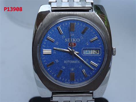 vintage seiko 5 automatic heren horloge 7005 8062
