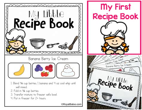 printable picture book my recipe book printable for charity royal baloo