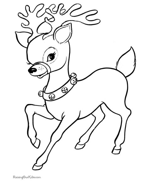6 christmas reindeer coloring pages kids