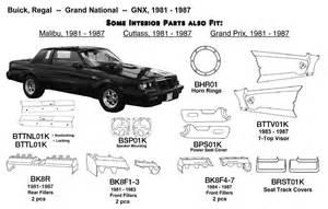 Buick Regal Parts Catalog Plastic Parts Inc Automotive Interior Exterior Parts