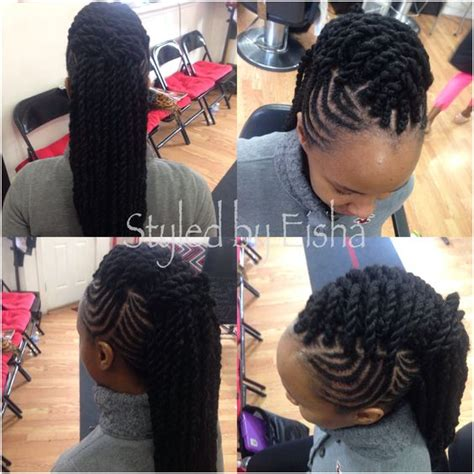 two strand twist mohawk twist bob marley braids kinky two strand hairstyle with braids and marley twist