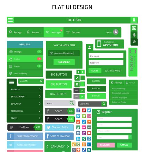 design templates buttons flat design buttons elements ui