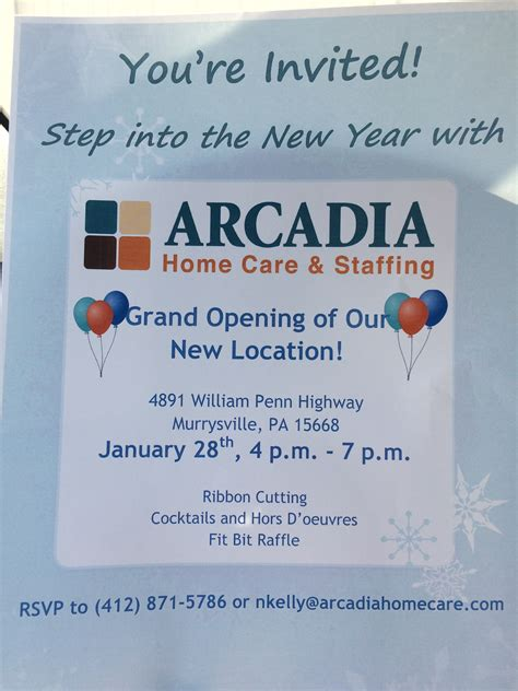 Arcadia Home Care by Grand Opening Of The New Arcadia Home Care Visit