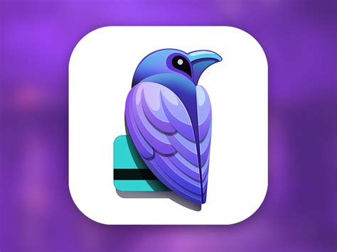 design an app icon raven app icon psd by ramotion dribbble