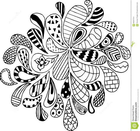 printable zen art doodles zentangle vector illustration pattern