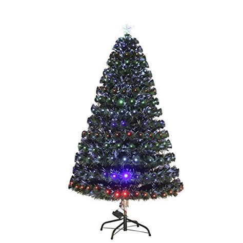 3 artificial holiday fiber optic light up christmas tree