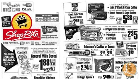 shoprite printable shopping list shoprite preview ad for the week of 9 18 16living rich