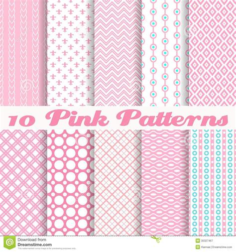 pattern and texture difference pink different vector seamless patterns royalty free stock