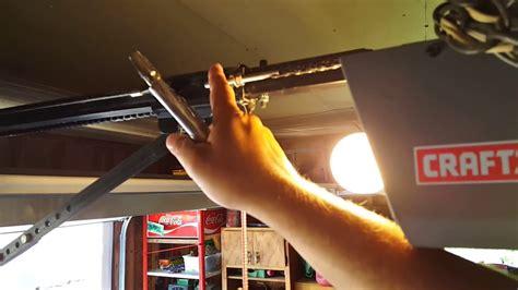 garage door chain tension how to adjust your garage door