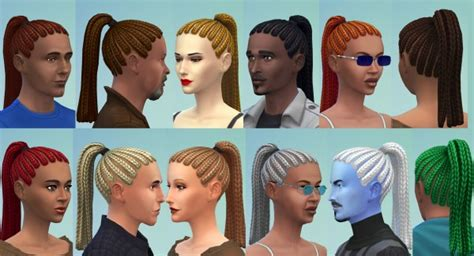 ponytailsims 4 child sims 4 hairs mod the sims ponytail dreads by esmeralda