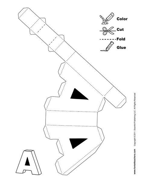 3d Paper Letters Template 3d alphabet 3d alphabet