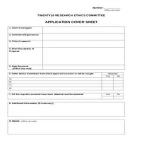 cover sheet for application 12 confidential cover sheet templates free sle