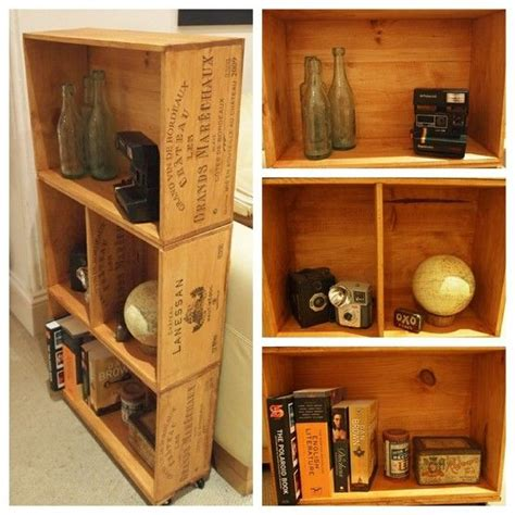 upcycled wooden wine crate shelf by the upcycling emporium
