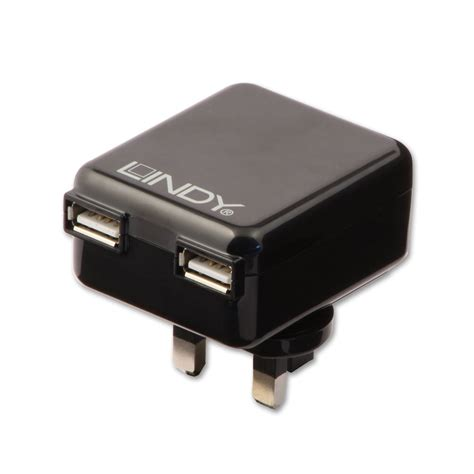 Charger Travel 4 Port Usb Tablet 5w Usb Kabel Cas Handphone Hp Kipas 2 port usb mains travel charger 1a 10 5w black from lindy uk