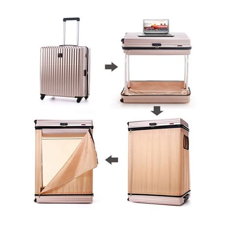 Swivel Wardrobe by 26 Quot Trolley Suitcase Wardrobe W Swivel Castors Chagne Gold Free Shipping Dealextreme
