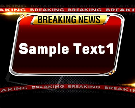 Breaking News Templates On Behance Breaking News Template