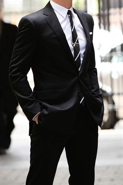 black suit classic bespoke black suit boardroom look