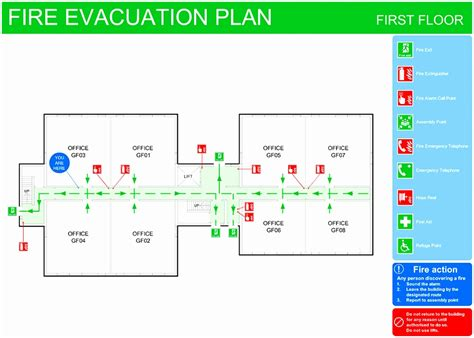 evacuation plan template for office 8 emergency exit floor plan template toowt templatesz234