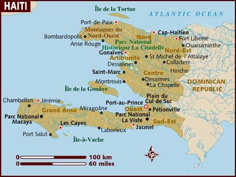 map haiti map of haiti cities