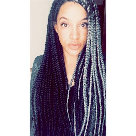 gray and back booty braids grey box braids braids natural hair and protective